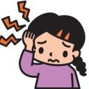 頭痛の少女のイラスト│頭痛薬にも使われているフェニルアラニン