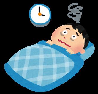 不眠症の男性のイラスト│ミドリムシ(ユーグレナ)に含まれるグリシンは睡眠の質を良くする作用がある