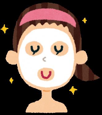 美顔中の女性のイラスト│クロロフィルの美顔効果とは?