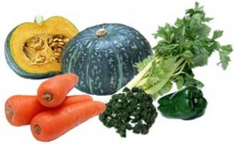 緑黄色野菜の写真│ミドリムシ(ユーグレナ)に含まれるゼアキサンチンは緑黄色野菜に多く含まれているカロテノイドの一種