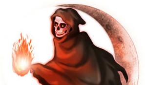 死神のイラスト│プトレシンは「腐敗」という死に関係する成分でもあり、「生」をもたらす効果も持つ興味深い成分