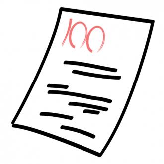 100点の回答用紙│ミドリムシ(ユーグレナ)に含まれているDHAやEPA、GABAが記憶力や集中力を向上