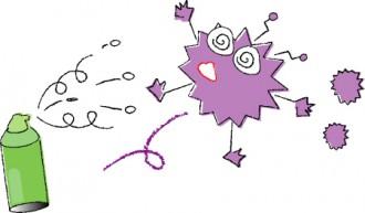癌細胞をやっつけるイラスト│ミドリムシ(ユーグレナ)のガンに対する効果とは?