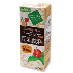 ユーグレナ入り豆乳飲料 黒糖味