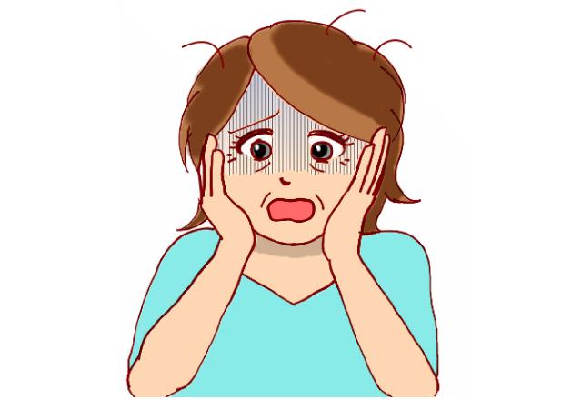 シワやたるみが気になる女性のイラスト│シワやたるみを防ぐリノレン酸はドレッシングでの利用がオススメ