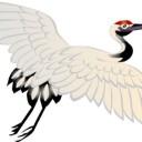 きれいな鶴のイラスト