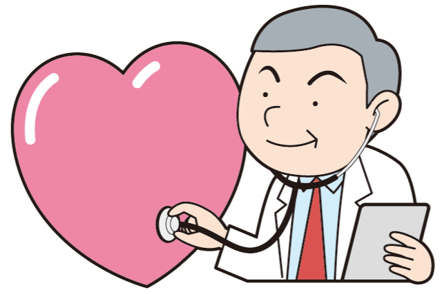 診察する医者のイラスト