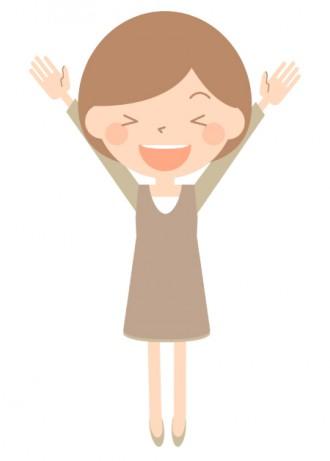 喜ぶ女性のイラスト│ミドリムシ(ユーグレナ)が持つ更年期障害に対する効果とは?