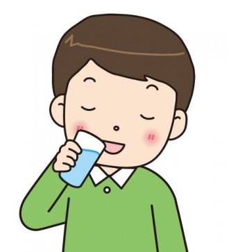 水を飲む男性のイラスト│ミドリムシ(ユーグレナ)に期待されているメタボリックシンドロームに対する効果とは?