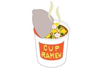 カップラーメンの画像│無機リン酸を多く含むインスタント食品
