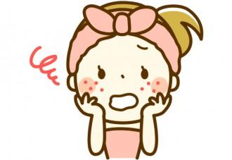 ビタミン不足で肌が荒れる女性のイラスト│髪や肌のトラブルはビタミンB2不足の黄信号