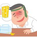 酔っぱらう男性のイラスト│水溶性のビタミンである「ナイアシン」は二日酔い予防を抑える効果があるとされる