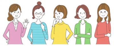女性の集合イラスト│ユーグレナ(ミドリムシ)に寄せられている実際の利用者からの口コミをいくつかご紹介