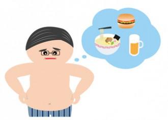 メタボに悩む男性のイラスト│ミドリムシはメタボリックシンドローム予防や生活習慣病の予防にも期待されている